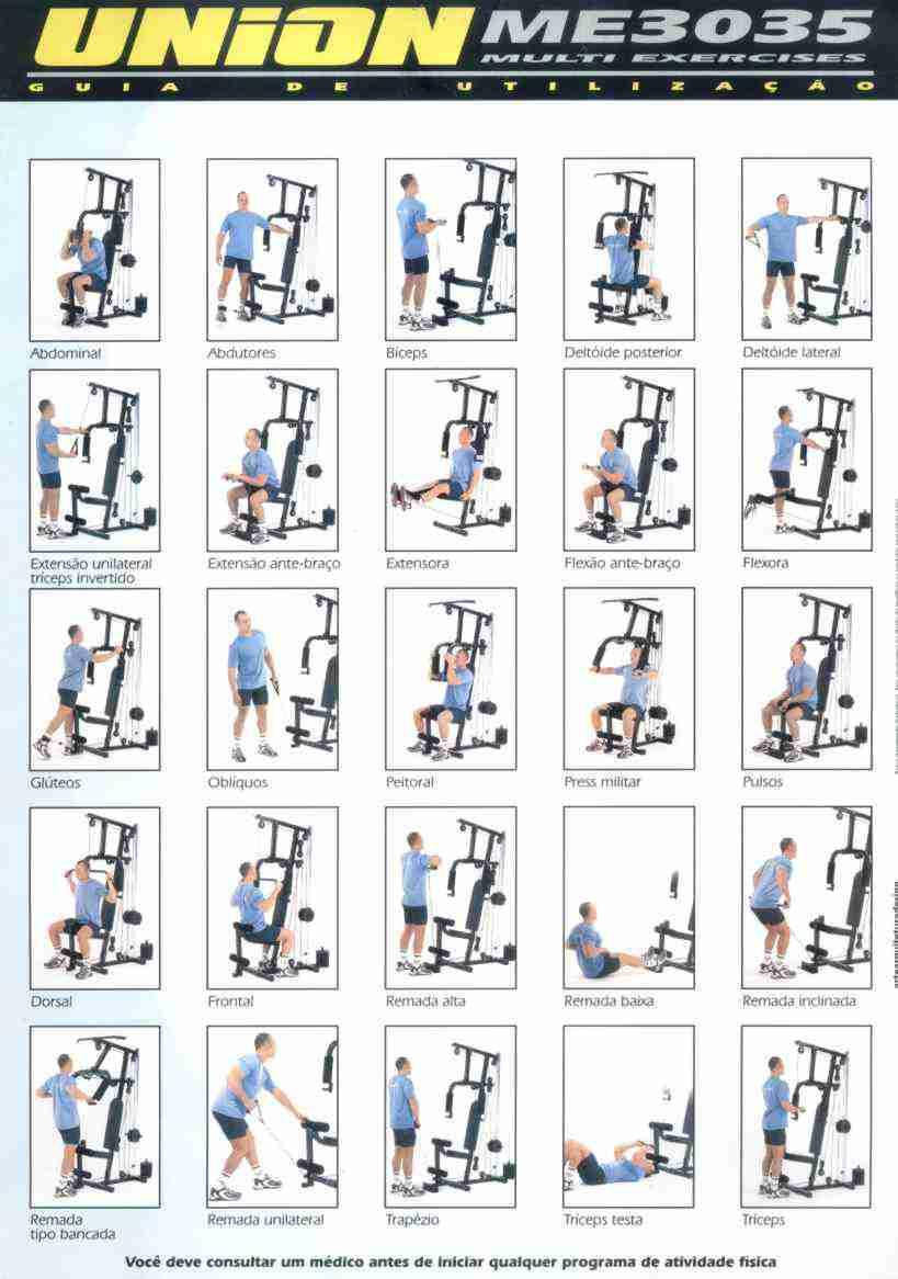 Super ESTAÇÃO de musculação Vitally - VITA MIX 12 DQ77